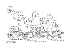跳舞的青蛙卡通画造型