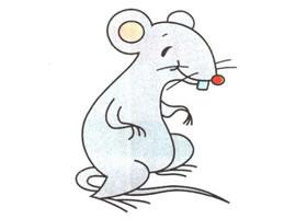 小老鼠卡通画法