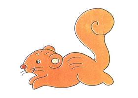 松鼠卡通画法