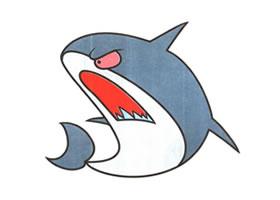 鲨鱼卡通画法步骤