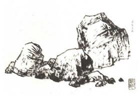 中国画画山石技法