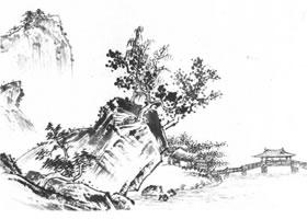 中国水山画《溪山清远图》临摹方法