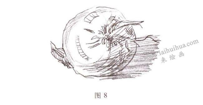 洋葱水彩画写生步骤01