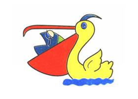 水鸟儿童卡通画法步骤