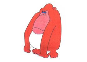 大猩猩儿童卡通画法步骤