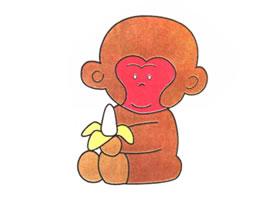小猴子儿童卡通画法步骤