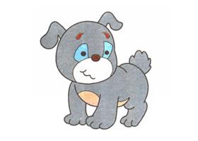 小狗儿童卡通画法步骤