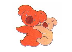树袋熊儿童卡通画法步骤