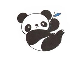 大熊猫儿童卡通画法步骤