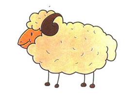 绵羊儿童卡通画法步骤