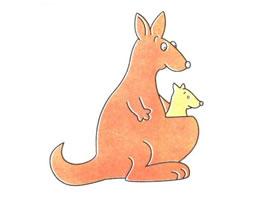 袋鼠儿童卡通画法步骤