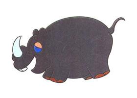 犀牛儿童卡通画法步骤