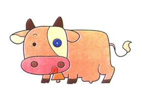 牛的儿童卡通画法步骤
