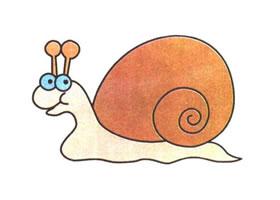 蜗牛儿童卡通画法步骤