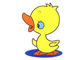 小鸭子儿童卡通画法步骤