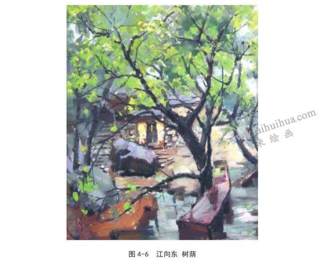 江向东  树荫风景速写作品