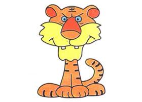 老虎儿童卡通画法步骤