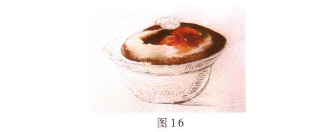沙锅水彩画的写生步骤02