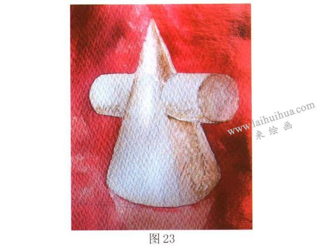石膏几何体水彩画写生步骤02