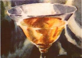玻璃酒杯水彩画的写生步骤和写生要点