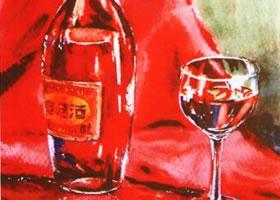 玻璃酒具水彩画的写生步骤和写生要点