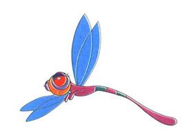 蜻蜓儿童卡通画法步骤