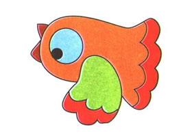 小鸟儿童卡通画法步骤