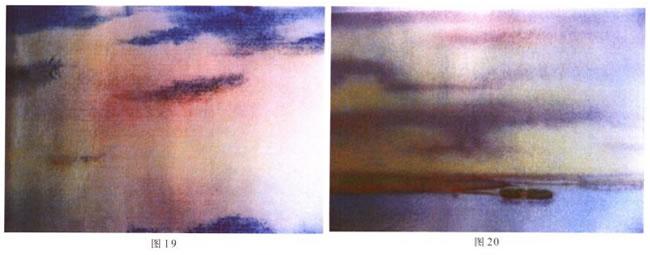 美丽的云彩水彩画法02