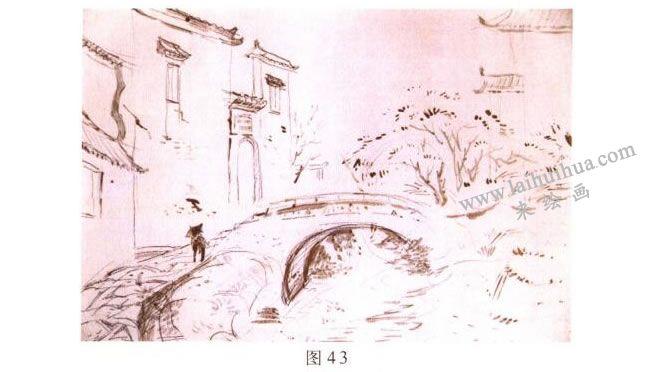 《小桥•流水•人家》风景水彩画的写生步骤01