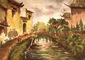 《小桥•流水•人家》风景水彩画的写生步骤与方法