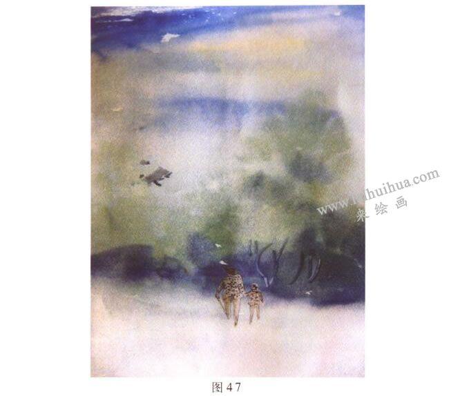 《归途》风景水彩画的写生步骤01