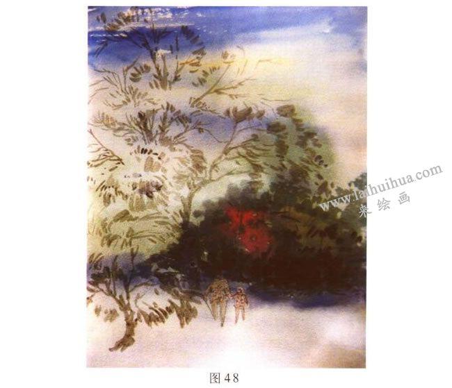《归途》风景水彩画的写生步骤02