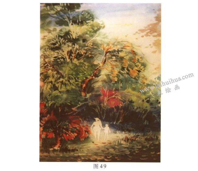 《归途》风景水彩画的写生步骤03