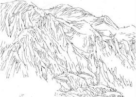 山石的速写画法解析