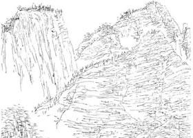 山石速写绘画的步骤解析
