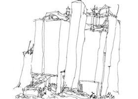 现代房屋速写画法解析