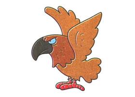 老鹰儿童卡通画法步骤