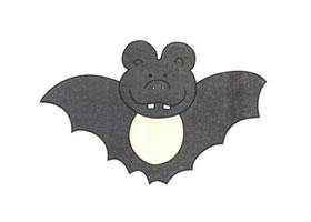 蝙蝠儿童卡通画法步骤