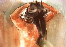 人体水彩画的写生步骤和方法