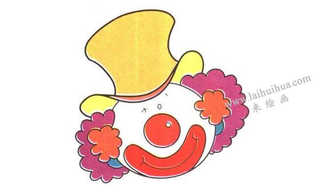 小丑儿童卡通画,完成图