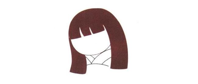 日本娃娃的脸,日本娃娃儿童卡通画法步骤01