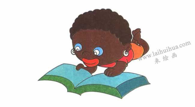 非洲小孩儿童卡通画