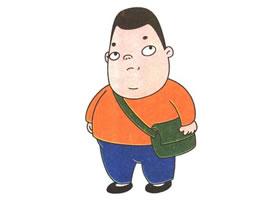 小胖儿童卡通画法步骤