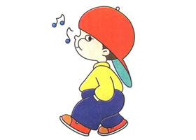 吹口哨的男孩儿童卡通画法步骤