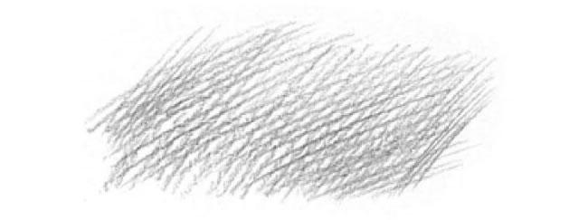 素描交叉重叠用笔