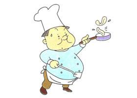 厨师儿童卡通画法步骤