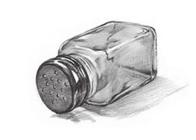 玻璃瓶子素描画法(一)
