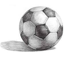 足球的素描画法步骤