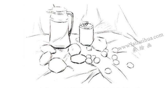 静物组合水粉画法步骤01