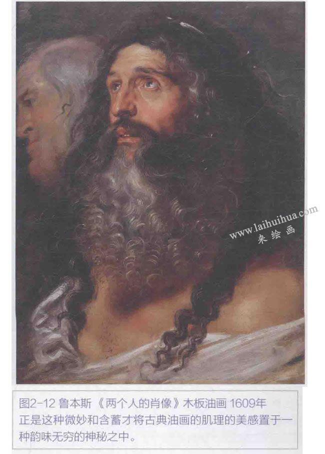 鲁本斯《两个人的肖像》木板油画